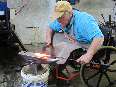 Forging a blade at Heavin Forge
